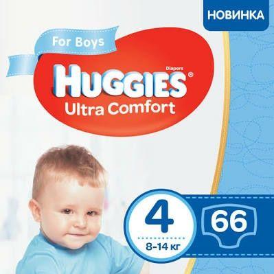 Подгузники Huggies ultra comfort 4 (9-14кг) 66шт