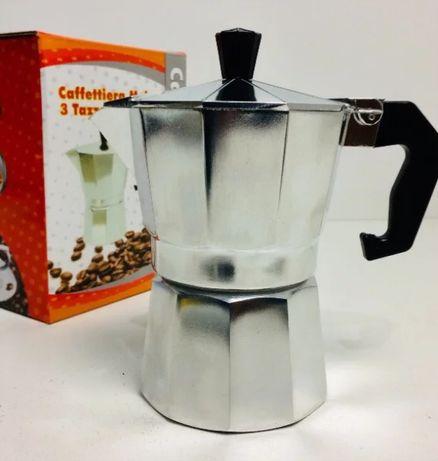 Кофеварка гейзерная нержавейка на 3ч домашняя