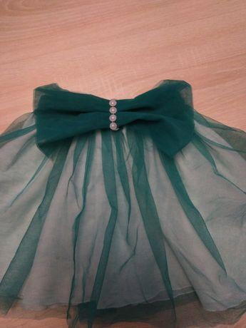 Spódniczka krótka tiulu na gumkę zielona