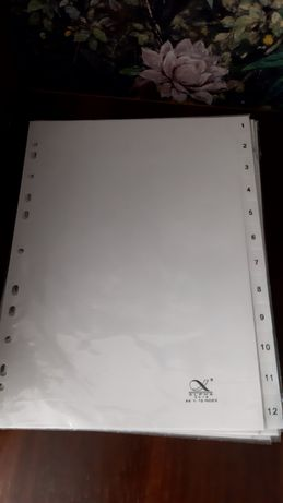 Пластиковые разделители для документов 1-12