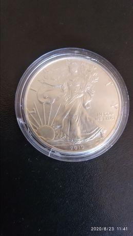 США 1 долар 2019. Американський срібний орел.
