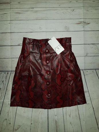 Тренд. Мини юбка из искусственной кожи ZARA. Оригинал, Испания. S