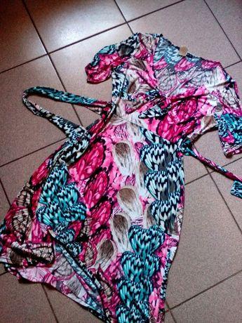 Лёгкое ,яркое трикотажной платье ,в отличном состоянии ,Франция.