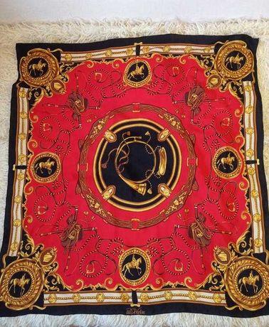Шикарный винтажный шелковый платок Paul de Vartens Франция