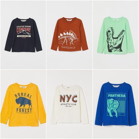 Регланы H&M мал 2-4-6-8-10 лет рост 104-116-128-134-140 кофта футболка