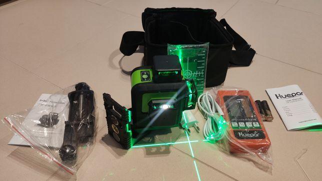 Laser zielony 360 12 linii krzyżowy niwelator samopoziomujacy huepar
