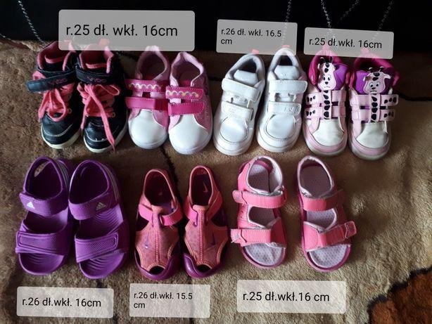 Adidasy, sandały, Nike,Adidas