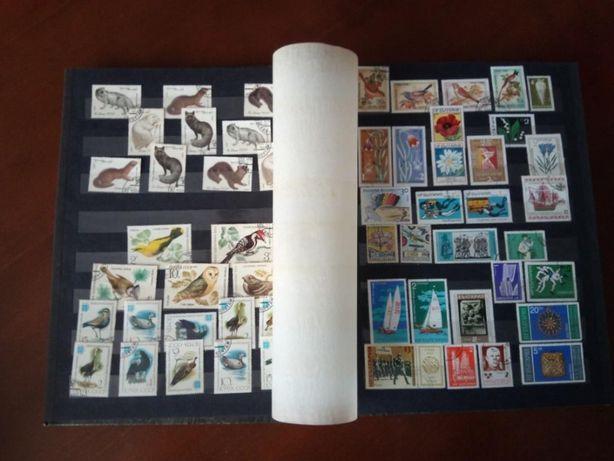 Klaser ze znaczkami kasowanymi Znaczki Klaser