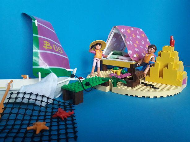 Lego Belville z 1998 - zestaw 5845 Wyspa marzeń - łódka skarb