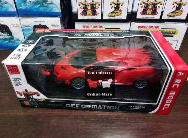 автотрансформер Мечта всех детей Машинка на радиоуправлении Robot Car