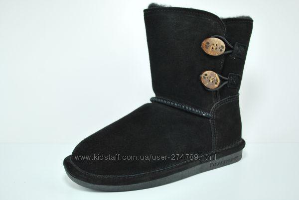 Bearpaw Boots - натуральная замша+овчина, оригинал- 32, 33, 34, 35