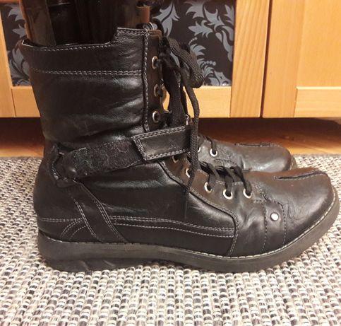 Eveline skórzane buty 40