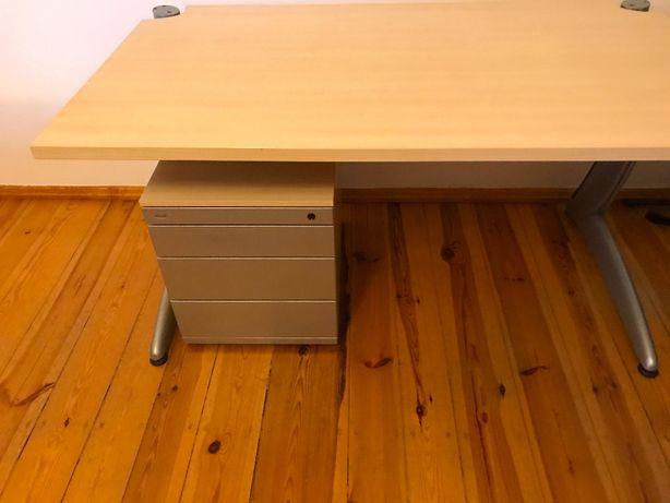 Zestaw: biurko i kontener Werndl 80 x 140 cm