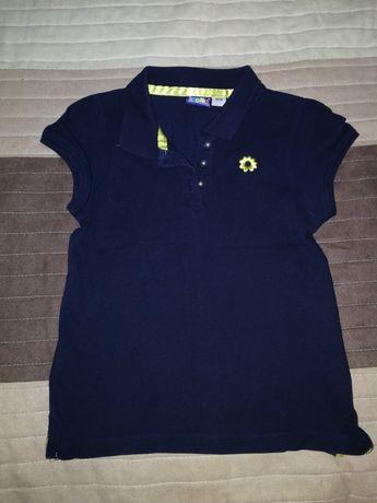 Koszulka polo t-shirt granatowa rozm. 110/116