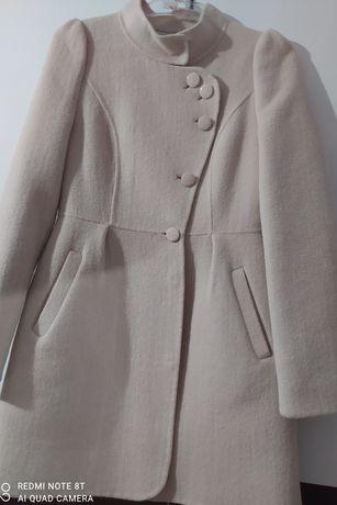 Okazja! Wełniany płaszcz Olive des olive rozmiar 34