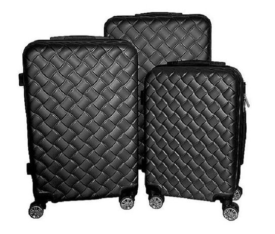 Zestaw walizek set walizki podróżne mulano czarne M L XL 1406