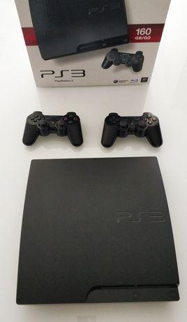 PlayStation 3 + 2 comandos + jogos