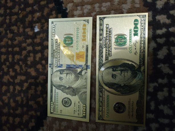 Gold 100 dollars