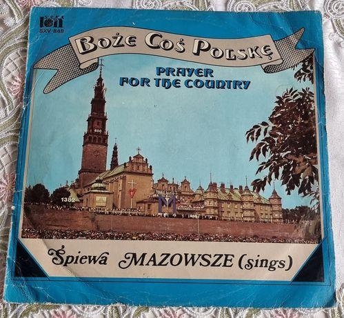 Boże coś Polskę śpiew Mazowsze winyl z 1982 r.