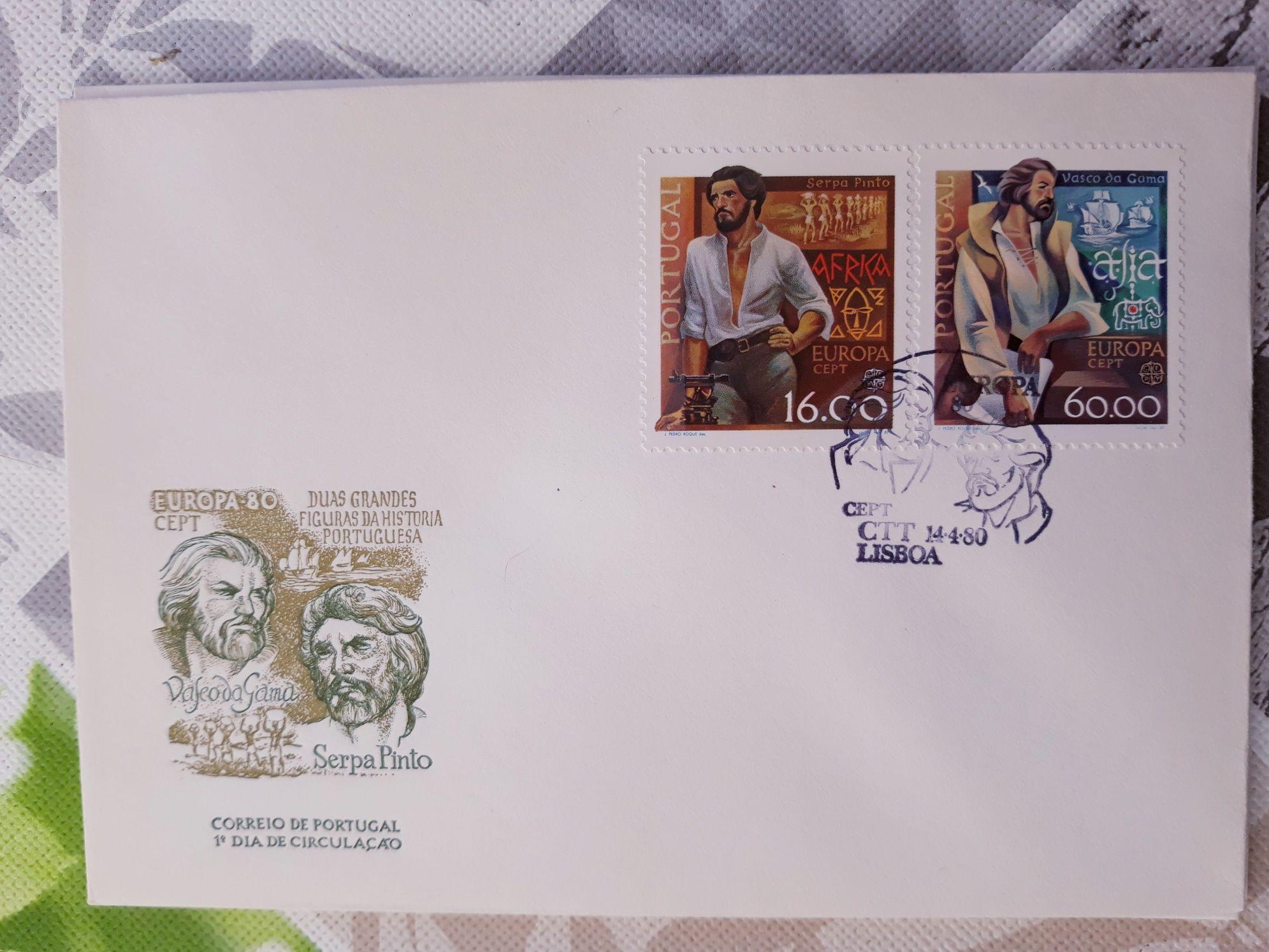 3 envelopes com selos Novos