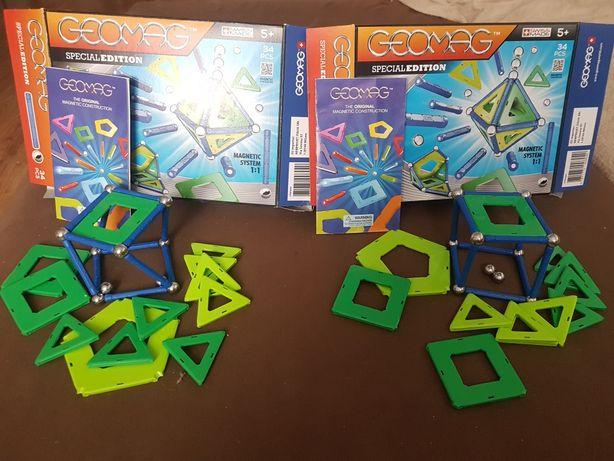 2 zestawy GEOMAG - special edition- klocki magnetyczne - 34 elementy