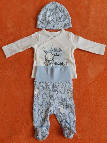 Комлект на новорожденного Boboli (шапочка+распашонка+ползунки) 50 см