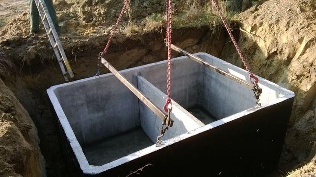 szambo betonowe szczelne zbiornik betonowy na ścieki gnojowicę