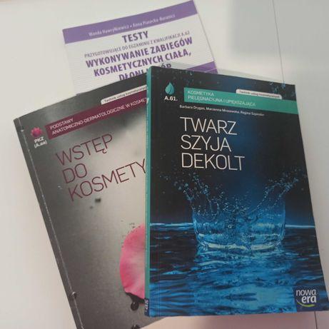 """podręczniki """"Wstęp do kosmetyki"""" i """"'Twarz, szyja, dekolt"""" + testy"""