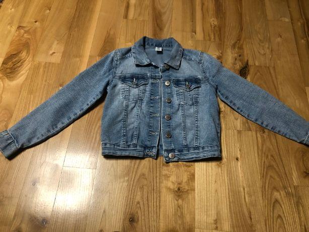 Kurtka dziewczęca jeansowa 134
