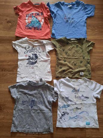 Koszulki 6 sztuk paka różne kolory rozmiar 89/92
