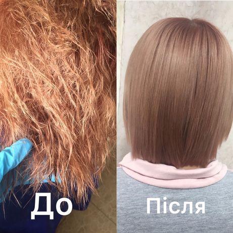 Кератин нанопластика ботокс волосся зачіски накрутки локони