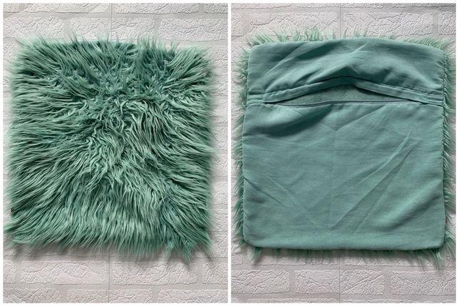 miętowa/morska POSZEWKA na poduszkę 50x50 cm