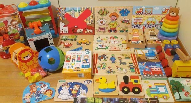 Mega duży zestaw: edukacjyne, zabawki, drewniane, Ikea, Smiki, sorter