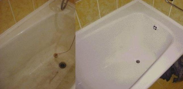 Ремонт ванны акриловой, чугунной , Реставрация поддона