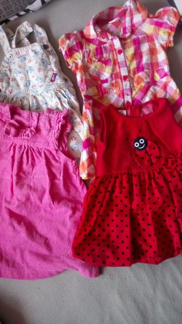 Sukienki r.74 i r 80 +sweterki