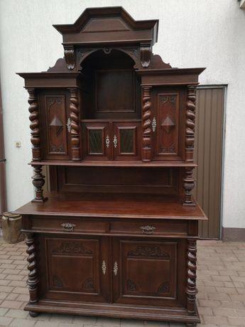 Kredens bufet eklektyk 152 cm. stary antyk dębowy po renowacji okazja