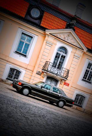 Samochód do ślubu auto do ślubu Mercedes S Klasa 500SE W126 klasyk