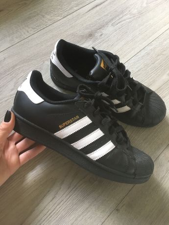 Adidas superstar czarne jak nowe