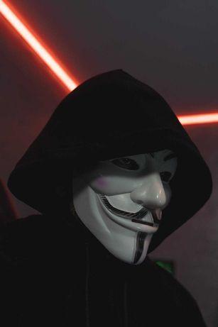 Анонимус Гай Фокс маска. Хакер Тик Ток. Подушечки для лица