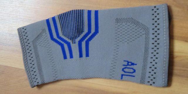 Stabilizator łokcia, opaska elastyczna na łokieć szaro niebieska