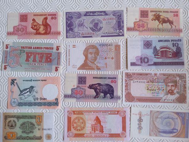 14921#Lote 16 notas estrangeiras diferentes Novas