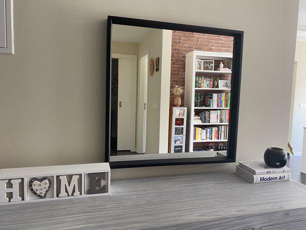 Espelho quadrado preto ikea