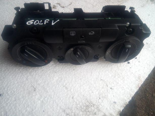 Panel sterowania klimatyzacji ogrzewania golf 5 passat b6
