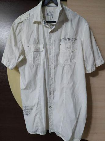 Biała koszula r L napisy