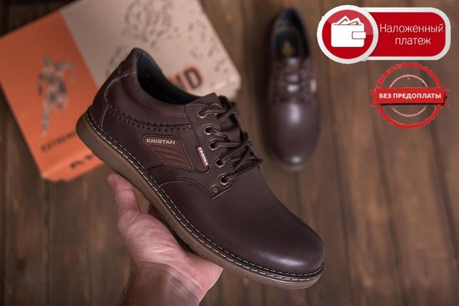 Без предоплаты Новые Мужские кожаные туфли Krіstаn brоwn 112 к