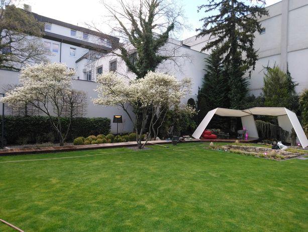 Projekt i wykonanie ogrodów, pielęgnacja roślin, wertykulacja trawnika