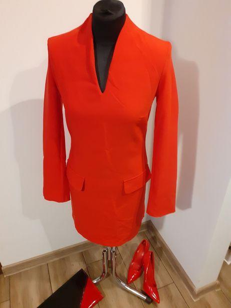 Sukienka czerwona idealna na święta jak i na sylwestra!