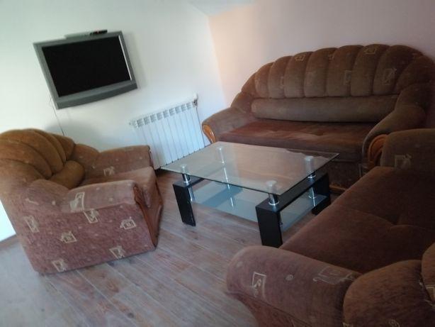Komplet wypoczynkowy sofy fotel ława