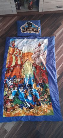 Komplet pościeli kołdra+poduszka z poszewkami dla fana Piratów