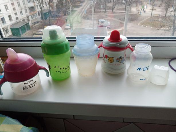 Бутылочки поильники Avent , Disney.